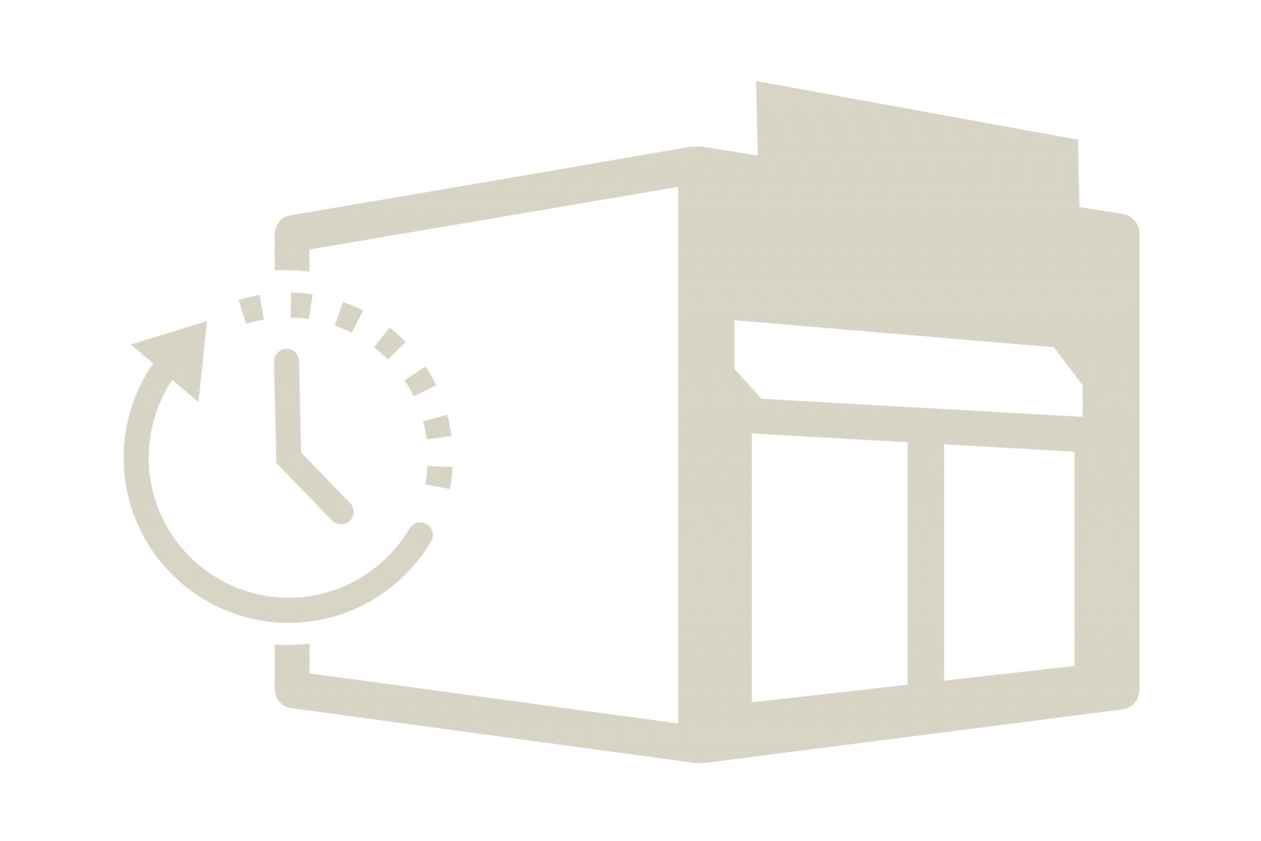 Fertigstellungs- oder Eröffnungstermin Logo